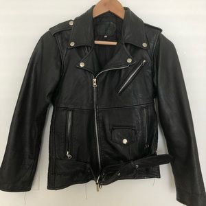 Jackets & Blazers - Black Leather Moto Jacket 🖤
